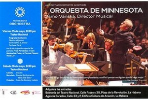Orquesta Sinfónica de Minnesota vuelve a Cuba